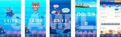 iphoneアプリ・しーさんゴののんびりクロック